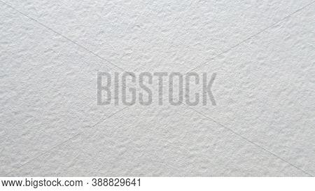White Cotton Watercolor Paper. Textured Rough Background. Aquarelle Grain Copy Space Canvas. Artist