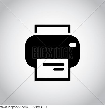 Isolated Line Printer Icon. Vector Flat Pictogram Simple Fax. Modern Silhouette Illustration