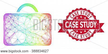 Spectrum Colored Net Case, And Case Study Unclean Ribbon Seal Imitation. Red Seal Includes Case Stud