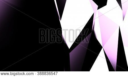 Violet Geometric Shape Triangular Abstract Modern Vector Dark Light Violet Background. Render 3d Cry