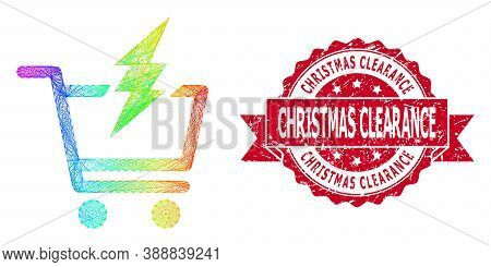Rainbow Colorful Wire Frame Proceed Purchase, And Christmas Clearance Rubber Ribbon Stamp Seal. Red