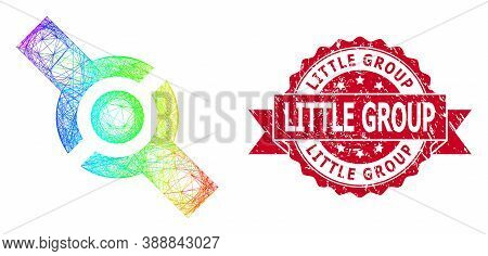 Spectrum Colorful Wire Frame Connector, And Little Group Unclean Ribbon Stamp Seal. Red Stamp Seal I