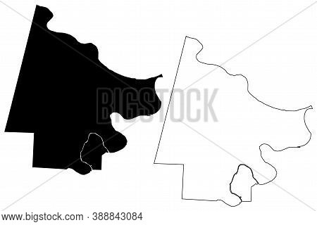 Cole County, Missouri (u.s. County, United States Of America, Usa, U.s., Us) Map Vector Illustration