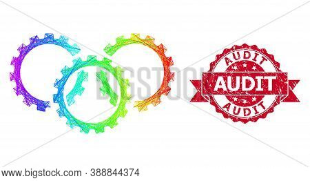 Spectrum Vibrant Wire Frame Gears, And Audit Unclean Ribbon Seal Imitation. Red Seal Contains Audit