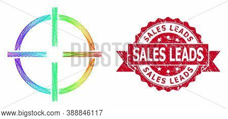 Spectrum Vibrant Wire Frame Target, And Sales Leads Unclean Ribbon Seal Imitation. Red Stamp Seal Co