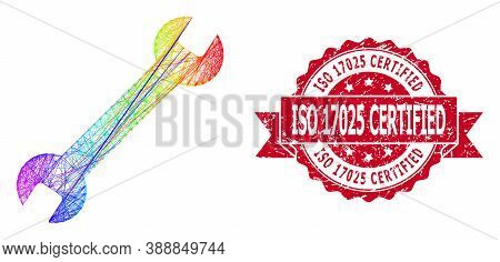 Spectrum Colorful Wire Frame Wrench, And Iso 17025 Certified Dirty Ribbon Seal. Red Stamp Seal Inclu