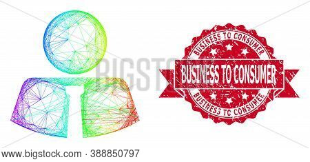 Bright Colored Network Mister, And Business To Consumer Dirty Ribbon Seal Imitation. Red Seal Has Bu