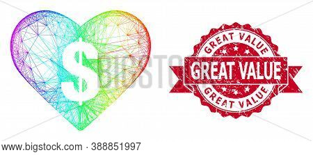 Spectrum Colorful Network Love Price, And Great Value Corroded Ribbon Seal Imitation. Red Seal Has G