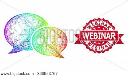 Spectrum Colored Wire Frame Forum Messages, And Webinar Unclean Ribbon Seal. Red Stamp Includes Webi