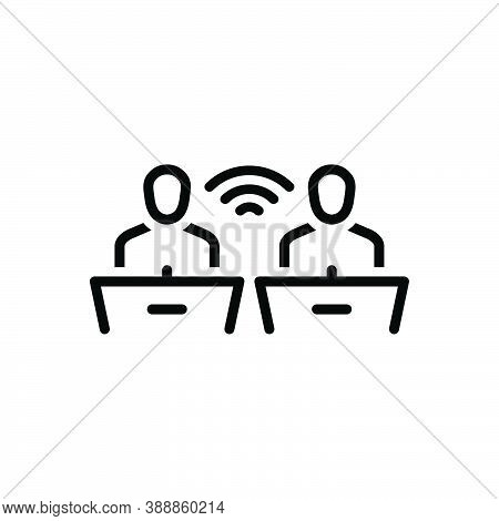 Black Line Icon For Discourse Recitation Communication Conversation Debates Orator Discussion People