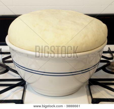 Rising Dough In Bowl