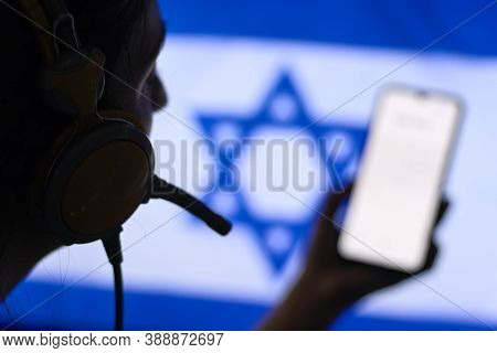 Israel Secret Service Officer Recording Diplomatic Conversations With Special Listening Device
