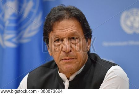 Islamabad, Pakistan, August 2020, Pakistan Prime Minister Imran Khan In Uno Meeting