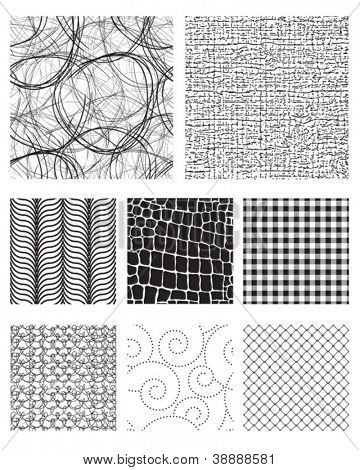 Seamless Pattern Textures.  Use as fills, backgrounds or add to existing photos or vectors to add texture.