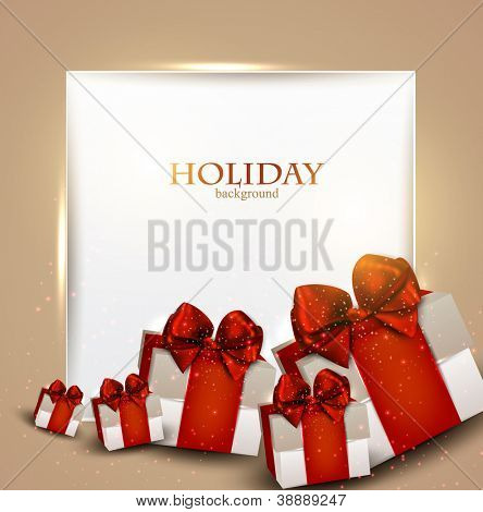 Elegante Hintergrund mit Weihnachtsgeschenke