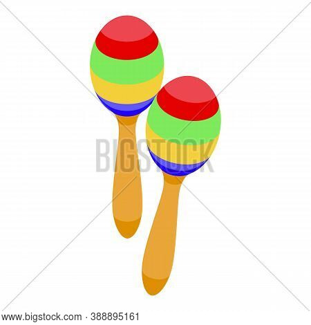 Maracas Icon. Isometric Of Maracas Vector Icon For Web Design Isolated On White Background