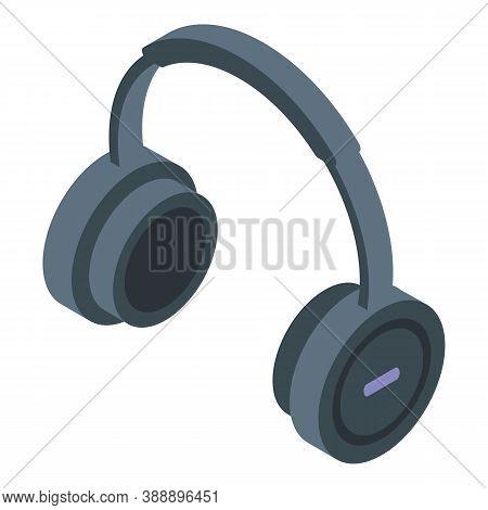 Radio Headphones Icon. Isometric Of Radio Headphones Vector Icon For Web Design Isolated On White Ba