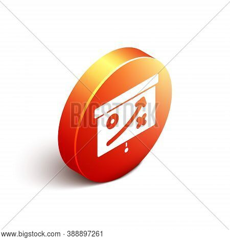 Isometric Planning Strategy Concept Icon Isolated On White Background. Cup Formation And Tactic. Ora