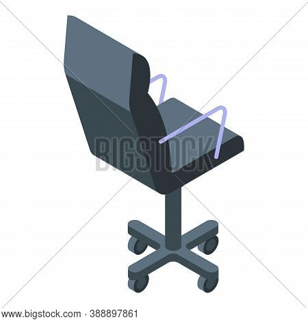 Streamer Chair Icon. Isometric Of Streamer Chair Vector Icon For Web Design Isolated On White Backgr
