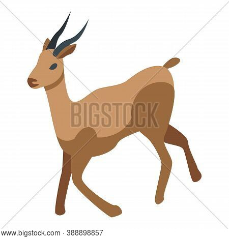 Africa Gazelle Icon. Isometric Of Africa Gazelle Vector Icon For Web Design Isolated On White Backgr