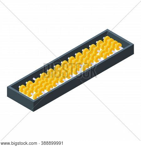 Beads Abacus Icon. Isometric Of Beads Abacus Vector Icon For Web Design Isolated On White Background
