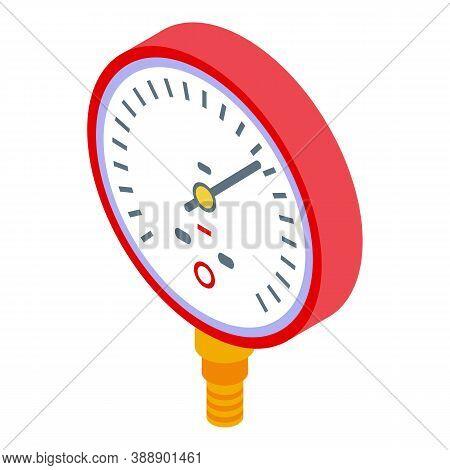 Manometer Machine Icon. Isometric Of Manometer Machine Vector Icon For Web Design Isolated On White