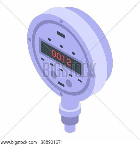 Digital Manometer Icon. Isometric Of Digital Manometer Vector Icon For Web Design Isolated On White