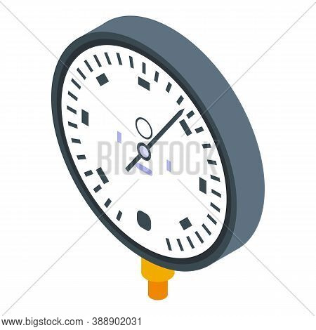 Pipeline Manometer Icon. Isometric Of Pipeline Manometer Vector Icon For Web Design Isolated On Whit