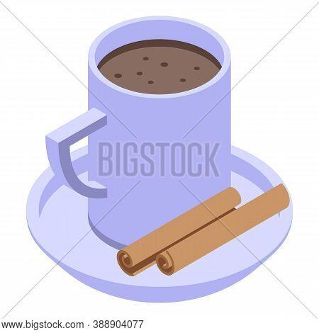 Cinnamon Tea Icon. Isometric Of Cinnamon Tea Vector Icon For Web Design Isolated On White Background