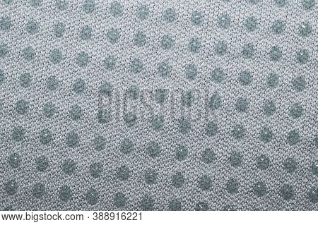 Fabric Texture With Dots. Woven Background. Braided Surface