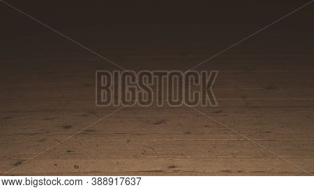 Old Wooden Floor In The Dark Low Angle View