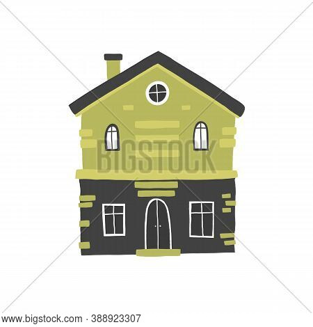 House Vector Drawing, Cartoon Cute For Design