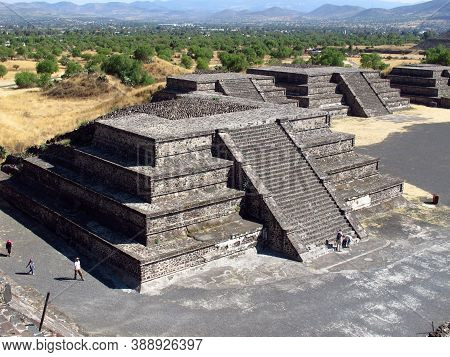 Ancient Ruins Of Aztecs In Teotihuacan, Mexico