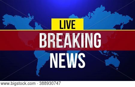 Breaking News Background With Graphic Map Vector