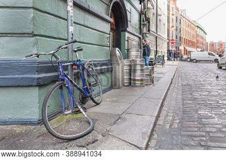 Vandalized Bicycle Tied Up In Dublin, Ireland
