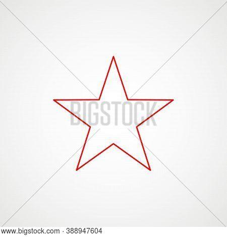 Linear Icon Of Communism. Red Star. Minimalist Ussr Emblem. Vector Illustration
