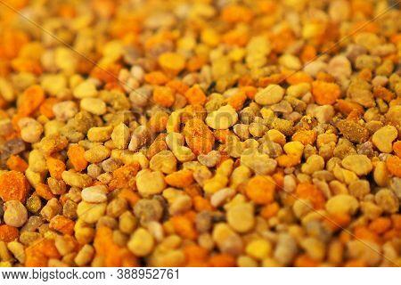 Pollen And Human Health, Natural Bee Pollen, Bee Flower Pollen Grains, Close-up