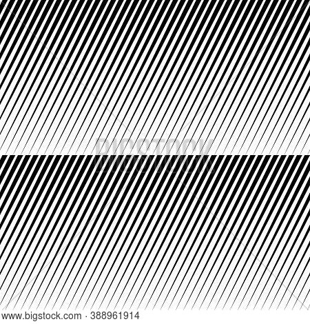 Black Diagonal Sharp Lines Abstract Background. Seamless Surface Pattern Design With Linear Ornament