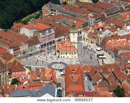 Central plaza in medieval city