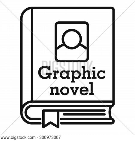 Graphic Novel Book Icon. Outline Graphic Novel Book Vector Icon For Web Design Isolated On White Bac