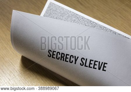 Ballot Secrecy Sleeves, Business Document Mail Concept.