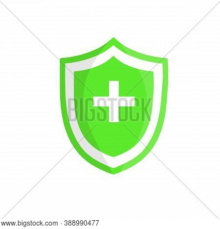 Green Shield Of Protection. Guards Against Diseases.