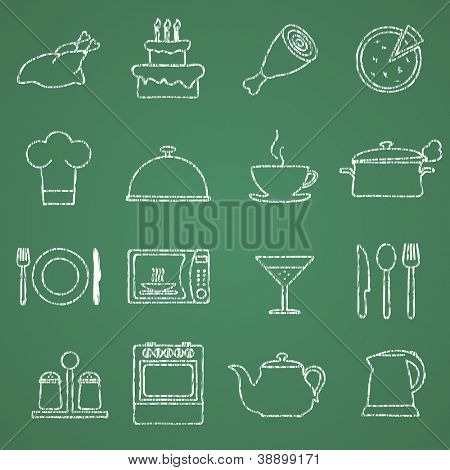 Vector images on food