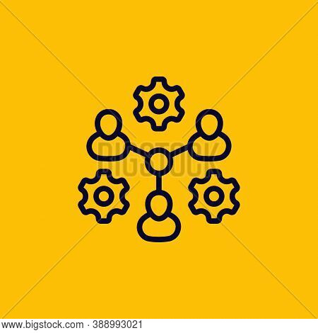 Cooperation, Combined Effort Vector Line Icon, Eps 10 File, Easy To Edit