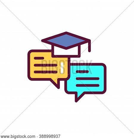 Oratory Courses Color Line Icon. Vector Illustration