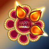 beautiful happy diwali vector background design poster