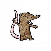 cartoon rat smoking cigarette poster
