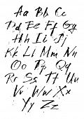 Ink hand-written calligraphic style letters poster