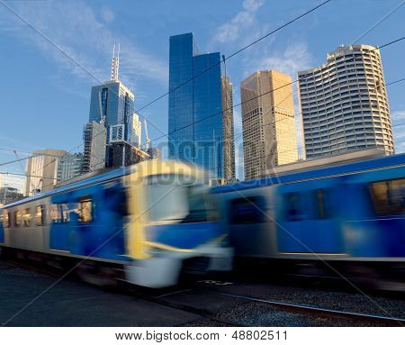 Trains Travelling Fast