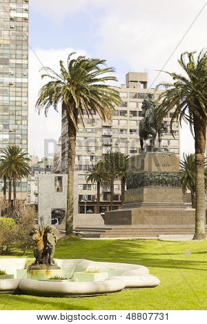 Independence Square. Montevideo, Uruguay